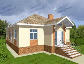 Проекты одноэтажных домов широкое