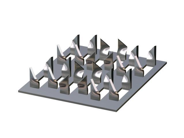 Металлические зубчатые пластины