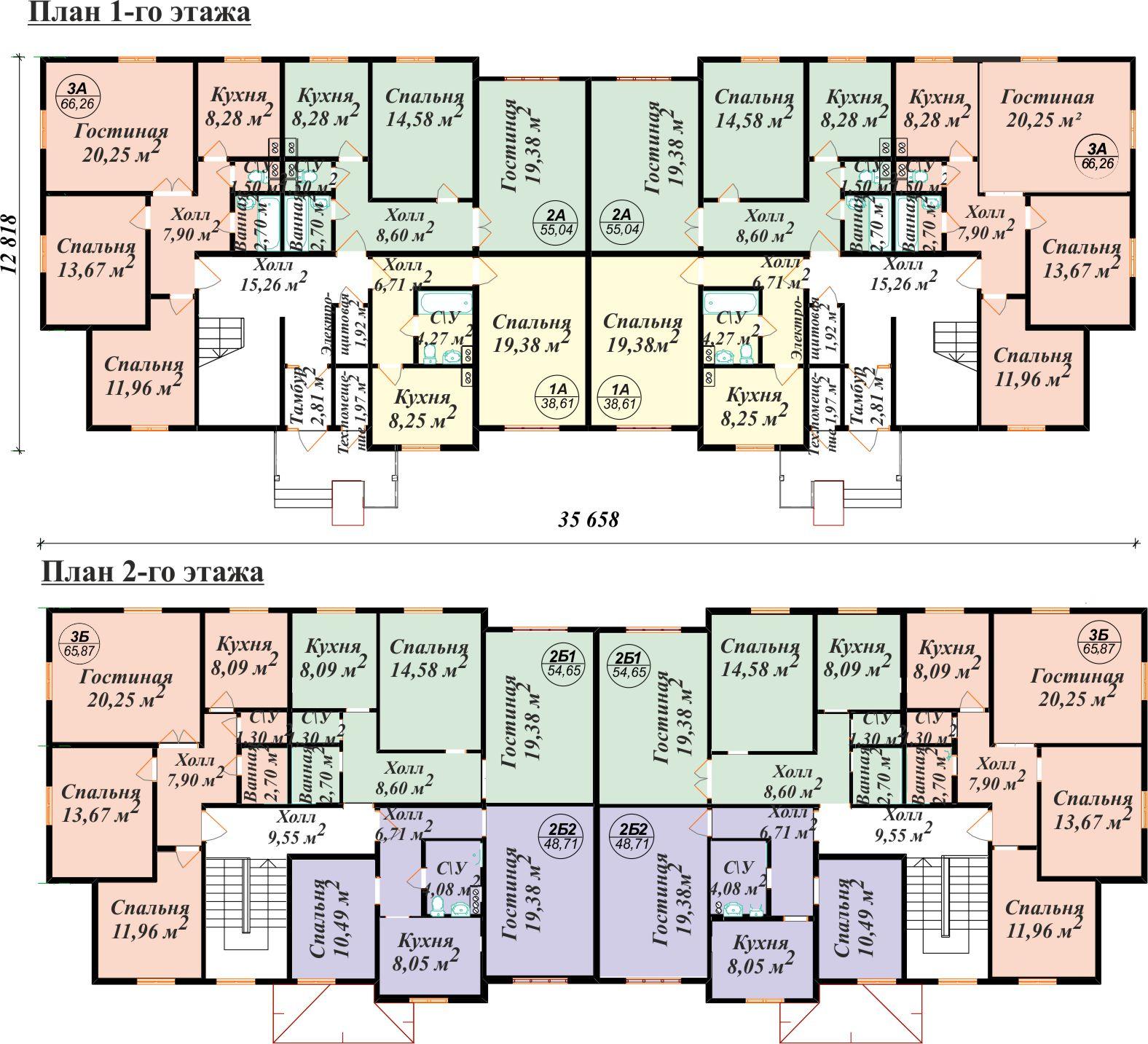 Схема планировок девятиэтажных домов