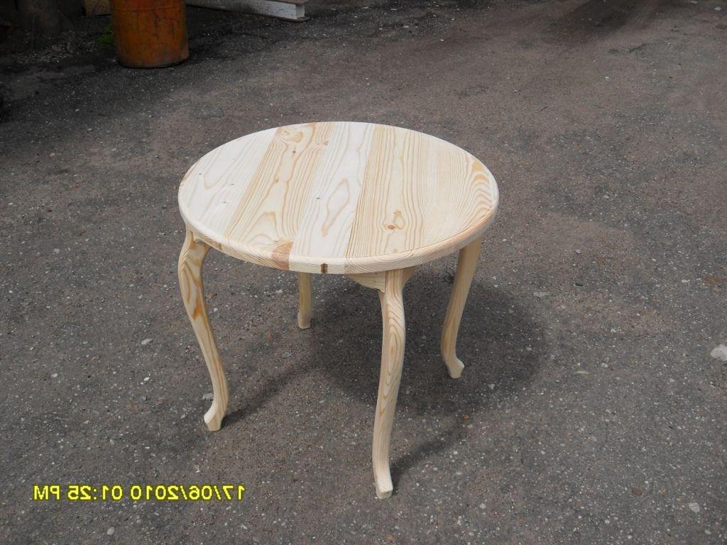 Как сделать столик с круглыми ножками
